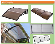 ABS Brackets Exterior Door Canopy Pc Awning Window Shade Polycarbonate Borad